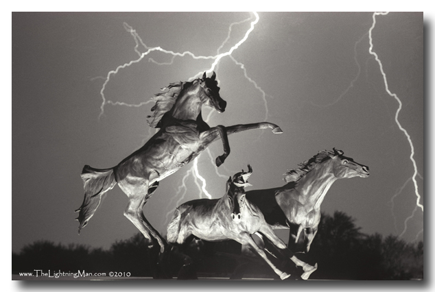 Lightning and horses