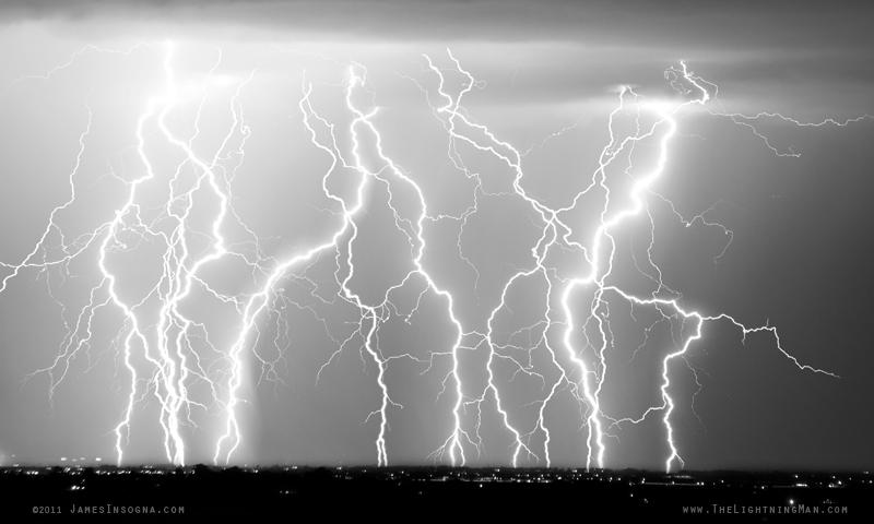 Black and White Lightning Bolt